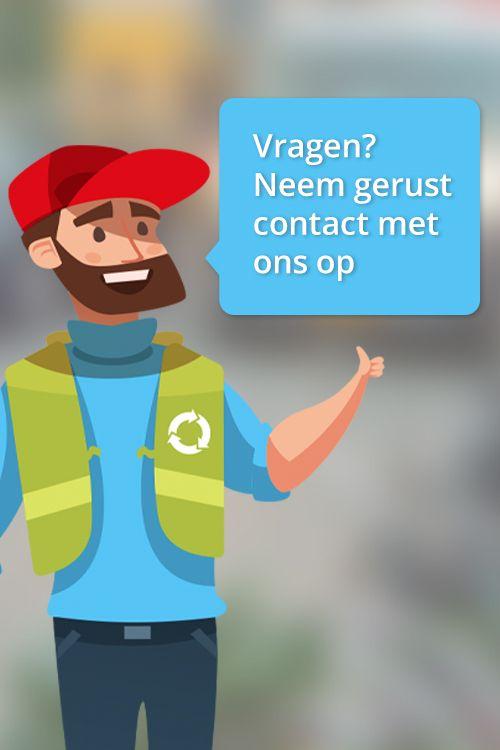 Afvalcontainers Midden Nederland Banner Contactpagina